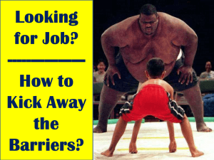 Job Barriers